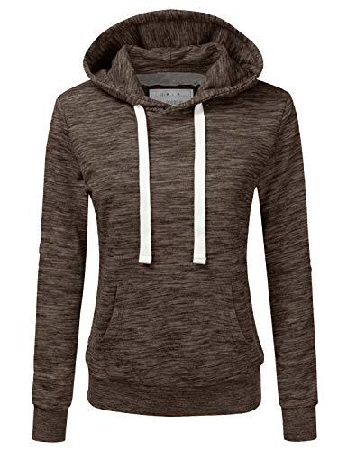 NINEXIS Womens Long Sleeve Fleece Pullover Hoodie Sweatshirts MARLEDESPRESSO M
