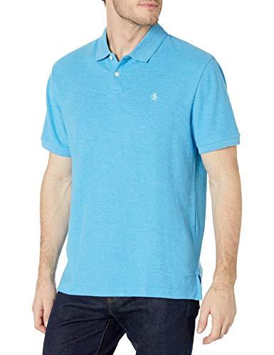 ORIGINAL PENGUIN Herren Men's Daddy-o Polo 2.0 Classic Fit Poloshirt, Dresden Blue, X-Groß