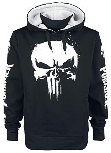 The Punisher Skull Hombre Sudadera con Capucha Negro