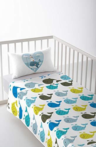 Cool Kids S2800663 Lucas Parure de lit pour lit de 80 cm, Multicolore, 120 x 180 cm