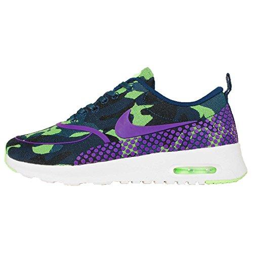 Nike air max thea JCRD PRM Womens Formatori 807385 Scarpe Da Ginnastica, Bianco (Teal Vivid Viola Fantasma Verde Vela 300), 38 EU