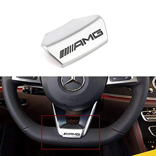 L&U AMG Lenkrad-Emblem-Abziehbild-Aufkleber-Abzeichen Dekoration Logo für Mercedes-Benz 16 Modelle 17 Modelle E200L E300L Neue E-Klasse