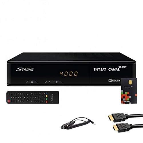 Set Receiver Strong SRT 7404 HD + Karte Viaccess TNTSAT + HDMi Kabel + Kabel 12 V