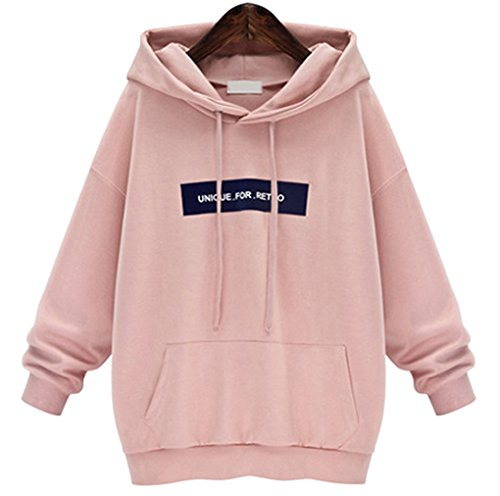 YunPeng Women's Hooded Sweatshirt Long Sleeve Letters