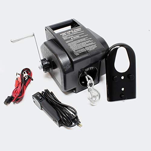 Torno Cable eléctrico 12V Cabrestante Winche hasta 4990 kg Tracción Cargas Outdoor