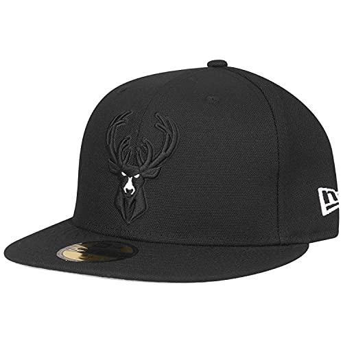 New Era 59Fifty - Gorra, diseño de los equipos de la NBA, Hombre, Milwaukee Bucks, 58-59