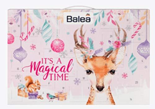 Balea Frauen Adventskalender 2019 - idealer Advent Kalender für die Frau, Beautykalender im Wert von 80 €, Kosmetikkalender mit 24 Pflege Produkten für Damen, Damenkalender Frauenkalender