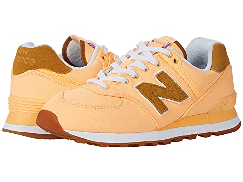 New Balance Women's 574 V2 Back Pack Sneaker, Light Mango/Wor, 8.5