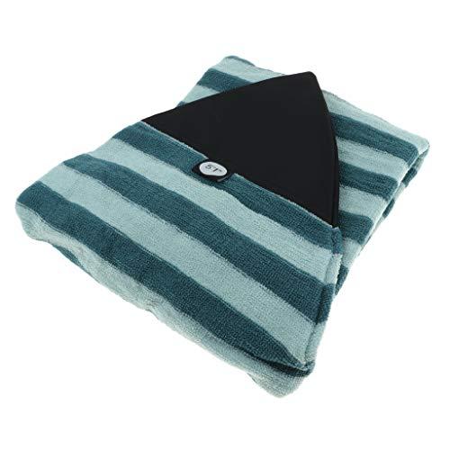 P Prettyia Bolsa de Almacenamiento de Surfboard, Cubierta para Tablas de Surf Padscon Rayas de Verde y Negro, 25 Tamaño Opcional - 5.1 pies