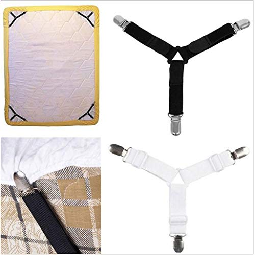 PIKAqiu33 4pcs / Set Tria-ngle Bed Mattress Sheet Clip Clamp Shoulder Strap Strap Fastener, Home & Garden, for Xmas Day and New Year (As Shown)