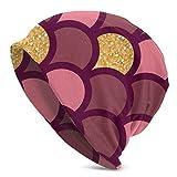 Miedhki Cappello da Donna Casual in Oro con Scaglie di Pesce e Glitter
