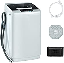 COSTWAY Full Automatic Washing Machine, 2-in-1 Portable Washer and Spin Combo with 10 Programs, 8.8lbs Capacity, Drain Pump and LED Display, Mini Laundry Washer for Apartment, RVs, Dorm