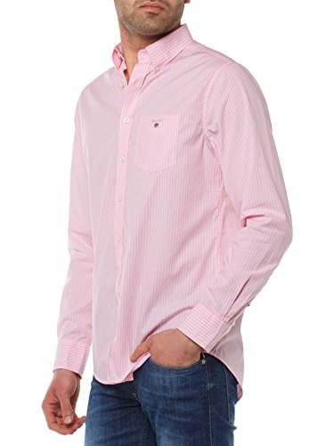 GANT The Broadcloth Pinstripe REG BD Camisa, Blau (Nautical