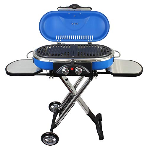 Mototeks, Inc. Portable BBQ Grill Propane Matchless Lighting Foldable CART for Camping Outdoor...