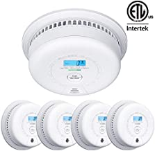 X-Sense SC01 10 Year Battery (Not Hardwired) Smoke and Carbon Monoxide Detector with Display, Dual Sensor Smoke CO Alarm Complies with UL 217 & UL 2034 Standards, Auto-Check, 5-Pack