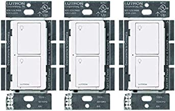 Lutron Caseta Smart Home Switch, Works with Alexa, Apple HomeKit, Google Assistant   6-Amp, for Ceiling Fans, Exhaust Fans...