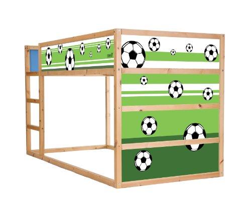 STIKKIPIX Fussball Möbelsticker/Aufkleber für das Hochbett KURA von IKEA - IM06 - Möbel Nicht Inklusive