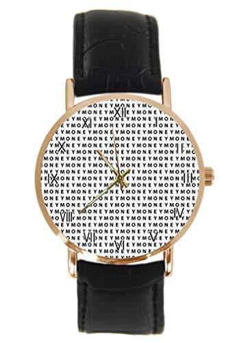 Reloj de Pulsera con Figura astronómica, de Cuarzo, analógico, Unisex, de Acero Inoxidable, Correa de Cuero