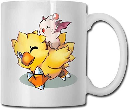 Final Fantasy Mog and Chocobo - Taza de café (cerámica), color blanco