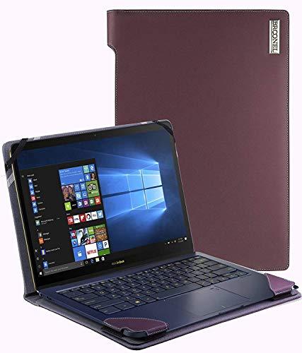 Broonel - Serie de perfiles - Estuche para De Cuero Morado - Compatible con La ASUS VivoBook Pro 15 N580GD 15.6 Inch