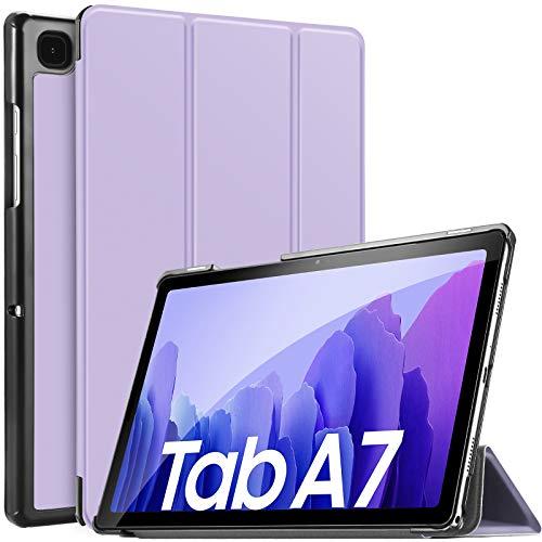 IVSO Hülle Kompatibel mit Samsung Galaxy Tab A7 10.4 2020, Schlank Slim Hülle Schutzhülle Hochwertiges PU mit Standfunktion, Samsung Galaxy Tab A7 T505/T500/T507 10.4 Zoll 2020, Purple
