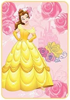 Disney Princess Beauty The Beast Blanket Plush Oversized Throw