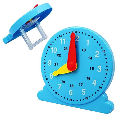 LbojailiAi Reloj de jardín infantil Montessori para niños, juguete educativo con números de cognición de plástico
