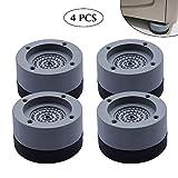 Kitchen-dream 4 STÜCKE Waschmaschine Fußpolster Anti Vibration Waschmaschine Füße Pad Anti Rutsch Gummi Fußpolster für Waschmaschinen und Trockner
