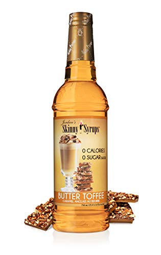 Jordan's Skinny Syrups | Sugar Free English Toffee Syrup | Healthy Flavors with 0 Calories, 0 Sugar, 0 Carbs | 750ml/25.4oz Bottle