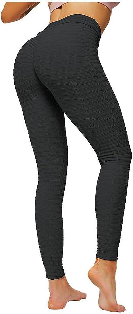 WOSHUAI TIK Tok High Waist Hip Leggings TIK Tok Tummy Control Stretch Pants for Mens Womens