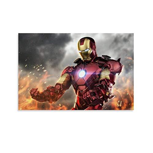 one1love Superheld Iron Man The Avengers Leinwanddruck, 60 x 90 cm, für Wohnzimmer, Schlafzimmer, Dekoration, ohne Rahmen