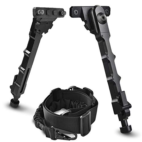 CVLIFE Rifle Bipod & Two Point Rifle Sling 7.5-9 Inches Bipod for Rifle