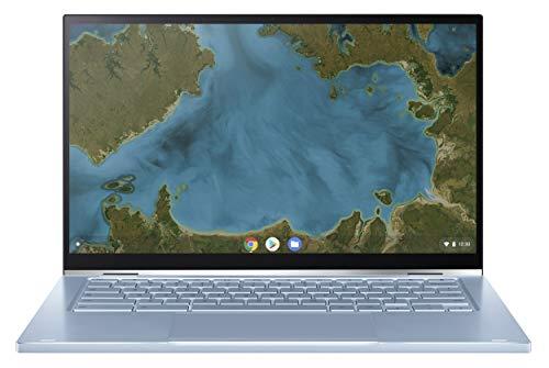 """ASUS Chromebook C433TA-AJ0022 Ordinateur Portable Convertible et Tactile 14"""" FHD (M3 8100Y, RAM 8Go, eMMC 128Go, Chrome OS) Clavier AZERTY Français"""