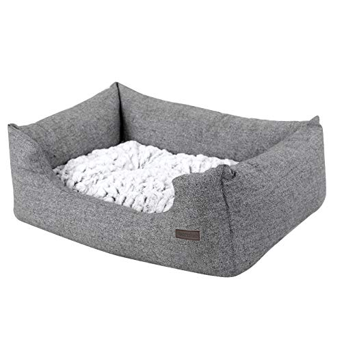 SONGMICS Hundebetten innenkissen Beidseitig Verwendbar mit unten einen Anti-Rutschboden M Außenmaße :80 x 60 x 26 cm PGW26G - 9