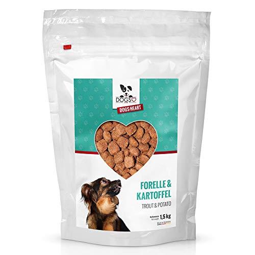 DOGS-Heart Forelle&Kartoffel 1,5kg Getreidefreies Hundefutter mit hohem Fleischanteil, Glutenfrei - ohne Zusatz von Zucker, Mais oder Weizen