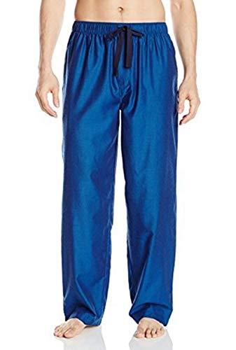IZOD Men's Yarn Dye Woven Pajama Pant, Blue, 2X-Large