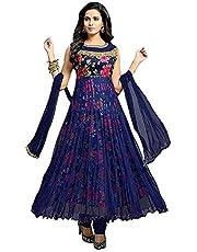 Ghaludi Fab Women's Net Semi-Stitched Lehenga Choli