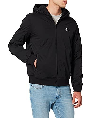 Calvin Klein Jeans Hooded Padded Harrington Jacket Chaqueta, CK Negro, M para Hombre