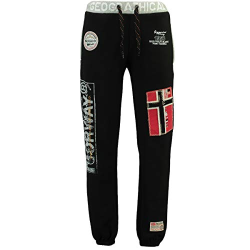 Geographical Norway Herren Jogginghose Myer Jogg-Pants mit Patches Black XL