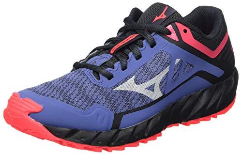 Mizuno Wave Ibuki 3, Zapatillas para Carreras de montaña Mujer, Marlin/Lunarrock/Dpink, 40.5 EU