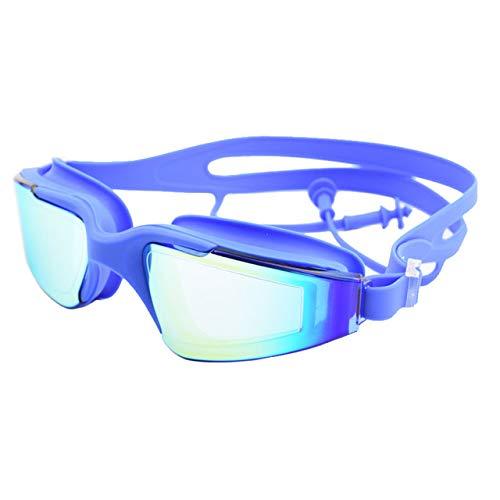 Viner Zwembril Oordopje Volwassen Waterdicht Anti-condens UV Heren Dames Zwembad Water Zwembrillen Siliconen Zeezwembril, Blauw