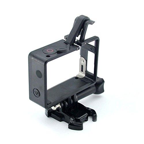 Glorich Frame Mount per GoPro Hero 4, Hero 3+, Hero 3 Plus, Hero 3 Standard Frame / BacPac Frame / 2 in 1 Frame mount (2015 ultima versione compatibile con solo fotocamera o fotocamera montata con LCD BacPac o batteria di seconda generazione)