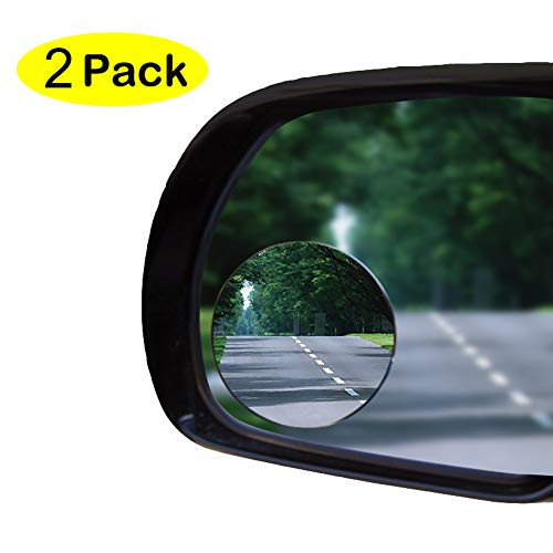 2' Blind Spot Mirror Oval Convex Stick-On Rear View and REAL Glass Mirrors-GUARANTEED - ALUMINUM Housing not plastic, Rust Resistant, for Motorcycle, ATV, Boat, Car, SUV - WIDE ANGLE No More Blindspots