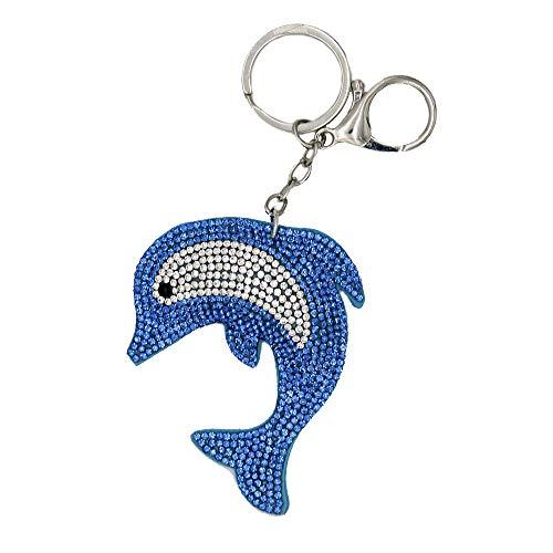 IMAGO Schlüsselanhänger Delfin Taschenanhänger, Kofferanhänger mit Glitzer Steine für Damen und Kinder, Delphine, Flipper