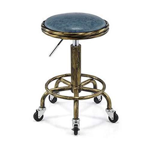CANDYANA kappersstoel rugleuning stoel Lifting Roller Sliding Beauty draaistoel Barber Shop bar, blauw