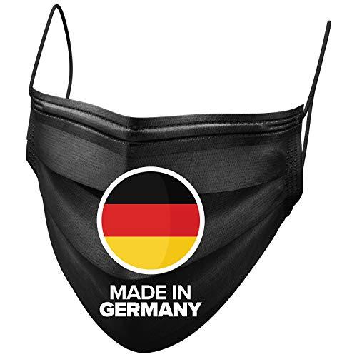 BEMS MEISTERWERK 50x Medizinischer OP Masken Mundschutz schwarz Made in Germany – TYP IIR Premium Einwegmasken (CE zertifiziert EN 14683:2019) Deutschland - 3-lagiger Mund Nasen Schutz
