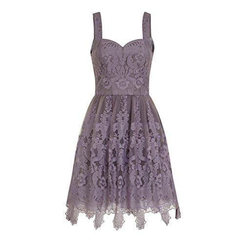 チチロンドン トップス ワンピース Baroque Style Skater Dress purple [並行輸入品]
