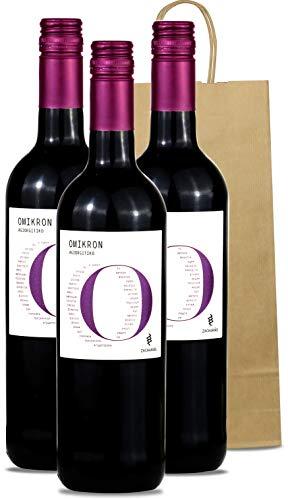 Rotwein trocken aus Griechenland | griechischer Wein (Agiorgitiko) mit Geschenk Tasche 3x 750ml