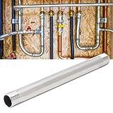 Okuyonic Tubo de Rosca Externo Junta de Tubo de pezón fácil de Instalar para baño para baño(4 Points Outer Wire Extension Rod 20cm)