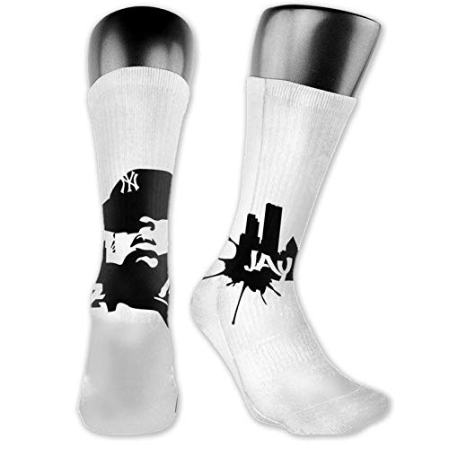 XCNGG Calcetines calcetines de becerro calcetines deportivos medias medianas Music Jay-Z Medium Stockings, Practical Breathable Non-Slip Fashionable Socks with Unique Patterns, Suitable for Men and Wo